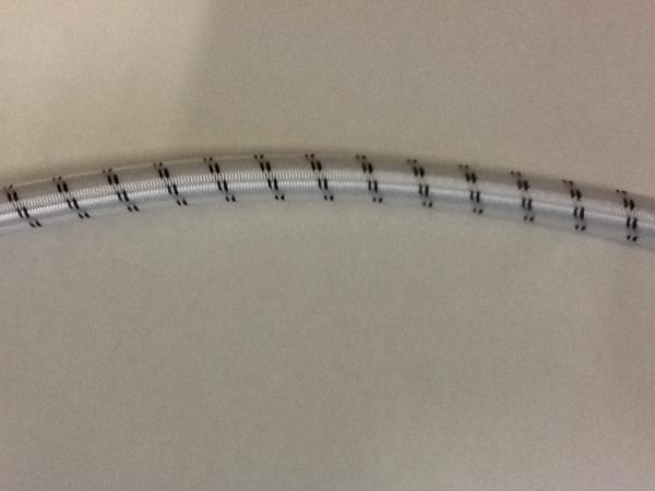 Gummiseil, 10mm, weiß/schwarz