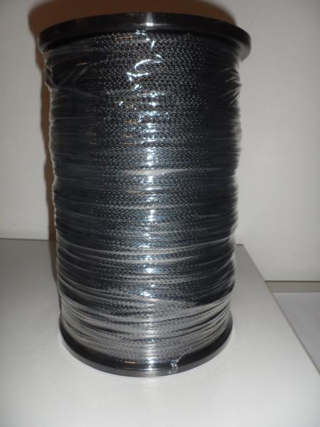 PES-Flechtschnur ø2mm, schwarz