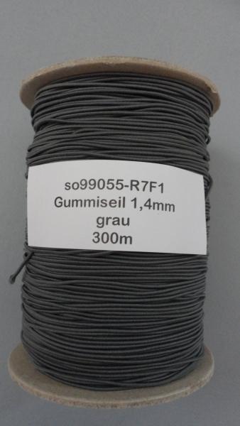 Gummiseil 1,4mm, grau, 300m