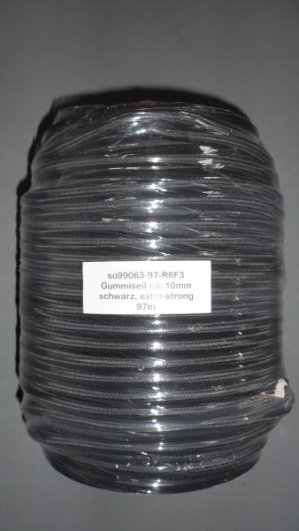 Gummiseil 10mm, schwarz, 97m