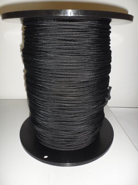 PES-Flechtschnur ø6mm, schwarz