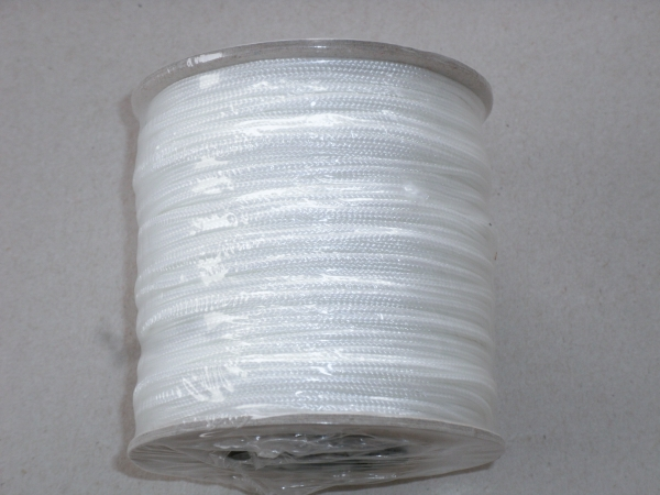 PES-Flechtschnur 1mm, weiß, 100m