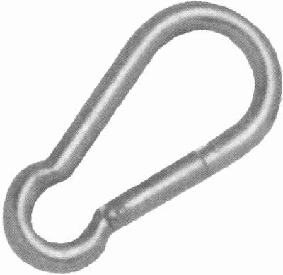 Karabinerhaken Standard, AISI 316