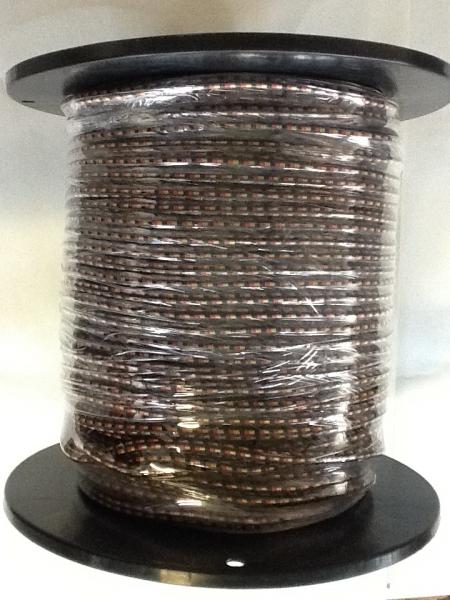 Gummiseil 8mm, schwarz/rot/gold, 160m