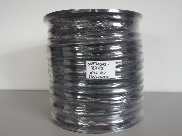 Gummiseil Sonderanfertigung, ca. ø12mm, schwarz