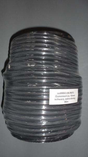 Gummiseil 10mm, schwarz, 96m