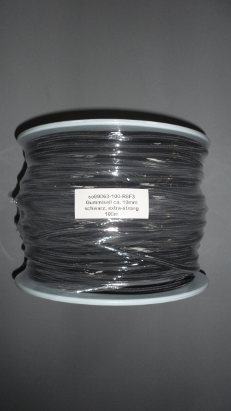 Gummiseil 10mm, schwarz, 100m