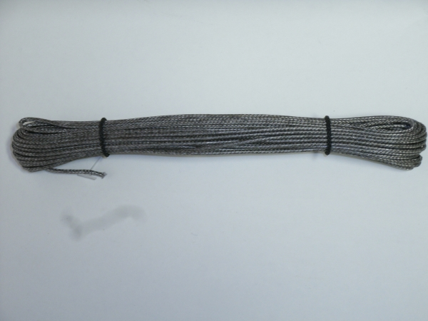 Dyneema-Flechtschnur, anthrazit, 10m